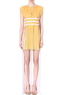 VIONNET Contrast-coloured pleated dress