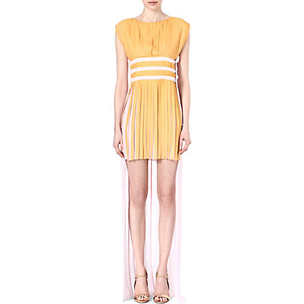 VIONNET Contrast-coloured pleated dress (Pale