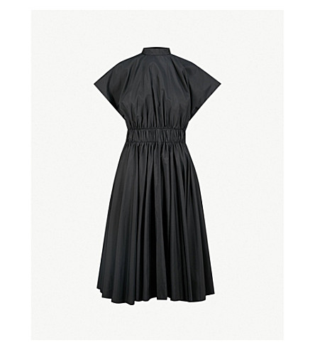 VIONNET Fit-and-flare shell dress (Black