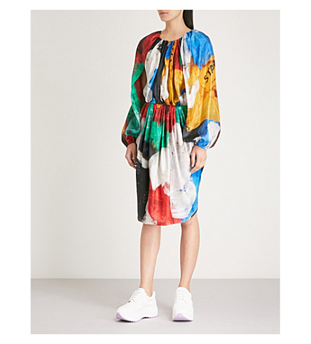 Marc dress x silk print printed Vionnet satin quinn Marc Quinn VIONNET O0Ewx