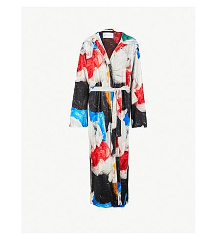 VIONNET Vionnet x Marc Quinn printed cotton-towelling coat (Marc quinn print
