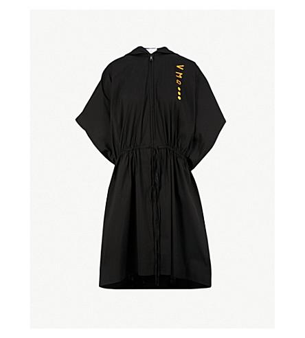 VIONNET Vionnet x Marc Quinn drawstring-waist cotton-blend coat (Black
