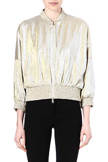 VIONNET Metallic bomber jacket