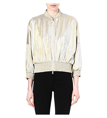 VIONNET Metallic bomber jacket (Gold / silver