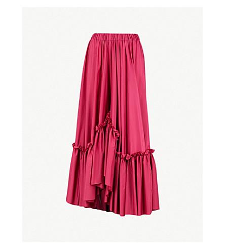 VIONNET Vionnet x Marc Quinn ruffled shell midi skirt (Lipstick