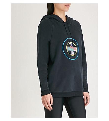 VIONNET Vionnet x Marc Quinn logo-print cotton-fleece hoody (Night blue