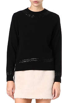 MARC JACOBS Sequin trim cashmere jumper