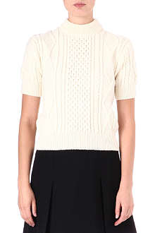 MARC JACOBS Short-sleeved Aran-knit jumper