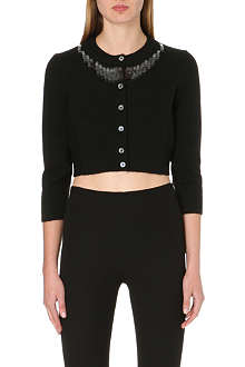 MARC JACOBS Sequin-detail cropped cardigan