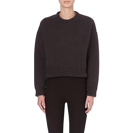 MARC JACOBS Cropped knitted jumper (Chocolate