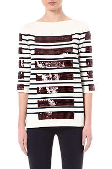 MARC JACOBS Sequinned Breton top