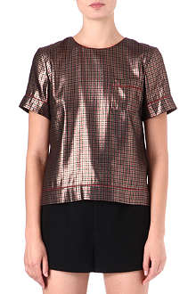 MARC JACOBS Houndstooth-print top