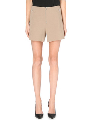 MARC JACOBS Zip-detail stretch-wool shorts