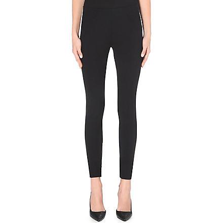 MARC JACOBS Zip-detail wool-blend leggings (Black