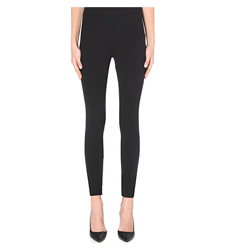 MARC JACOBS Zip-detail wool-blend leggings (Black