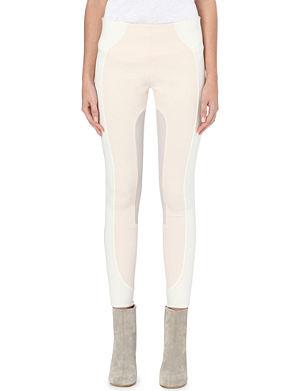 MARC JACOBS Colour-block stretch-wool leggings