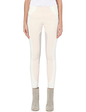 MARC JACOBS Colour-block stretch-wool leggings