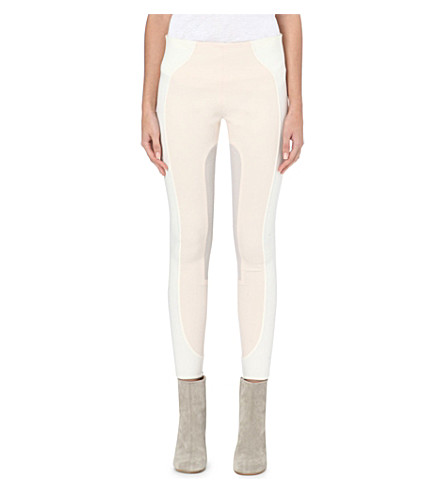 MARC JACOBS Colour-block stretch-wool leggings (Cream/white/bone