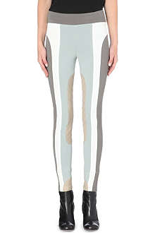 MARC JACOBS Colour block stretch-crepe leggings