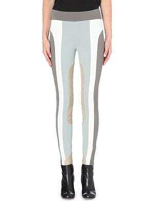 MARC JACOBS Colour block stretch-crepe leggings