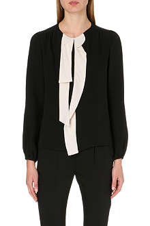MARC JACOBS Neck-tie silk blouse
