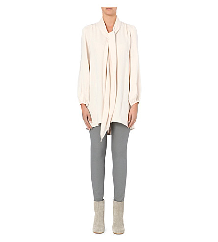 MARC JACOBS Scarf-detail silk tunic (Bone