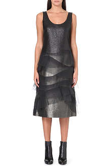MARC JACOBS Ruffled metallic dress