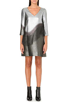 MARC JACOBS Silver peplum dress