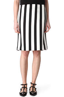 MARC JACOBS Monochrome striped skirt