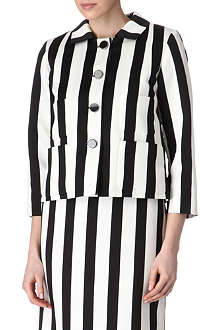 MARC JACOBS Monochrome striped jacket