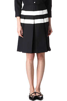 MARC JACOBS Pleated monochrome skirt