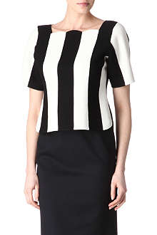 MARC JACOBS Striped scalloped top