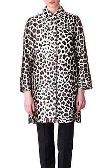 MARC JACOBS Leopard satin-twill coat