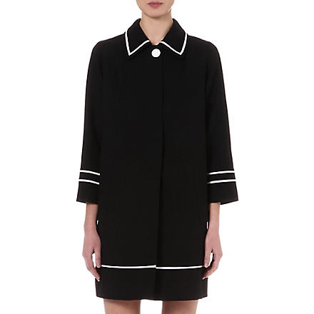 MARC JACOBS Contrast-trim coat (Black