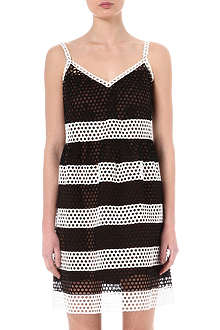 MARC JACOBS Two-toned eyelet dress