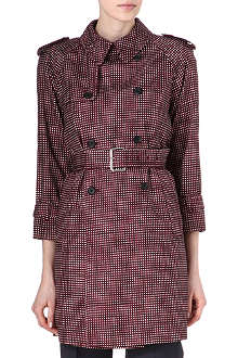 MARC JACOBS Sketch checked trench coat