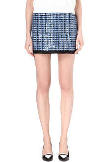 MARC JACOBS Sequin-embellished tweed mini skirt