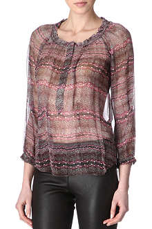 ISABEL MARANT Paisley peasant top