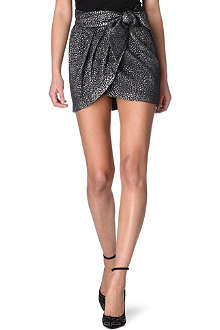 ISABEL MARANT Metallic wrap skirt