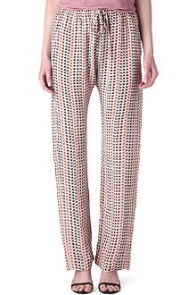 ISABEL MARANT Star-print silk trousers