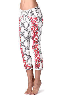 ISABEL MARANT Godart embroidered cropped jeans
