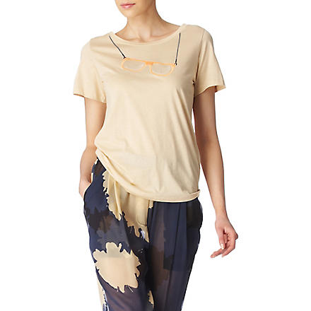 3.1 PHILLIP LIM Embroidered t-shirt (Sand