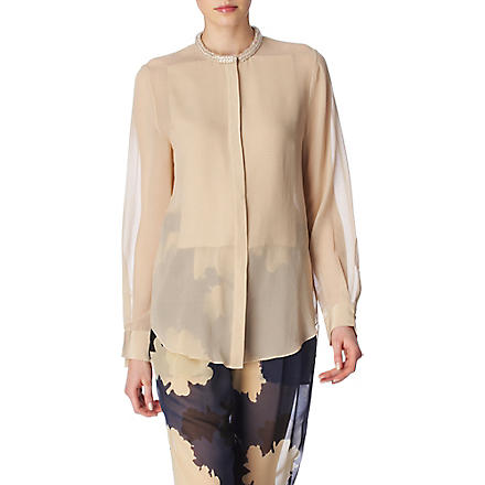 3.1 PHILLIP LIM Beaded neck blouse (Sand