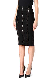 HERVE LEGER Embellished Lines pencil skirt