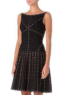 HERVE LEGER Embellished Lines dress