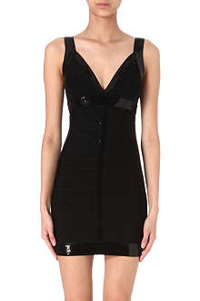 HERVE LEGER Sequin panel dress
