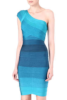 HERVE LEGER Tonal bandage dress