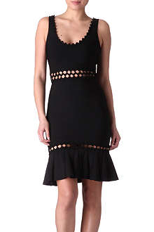 HERVE LEGER Cut-out bandage dress