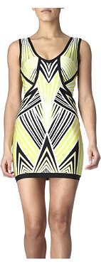 HERVE LEGER Printed bandage dress