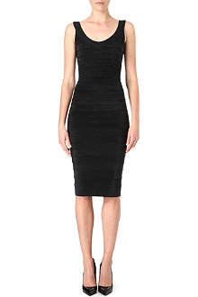 HERVE LEGER Beaded zip-back dress